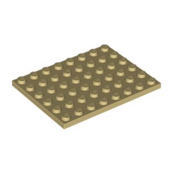 LEGO 4114056 PLATE 6X8 - BEIGE lego-6070501-plate-6x8-beige ici :