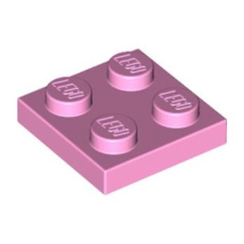 LEGO 6096589 PLATE 2X2 - ROSE CLAIR
