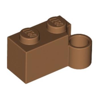 LEGO 6102967 - BRIQUE 1X2 CHARNIERE BAS - NOUGAT
