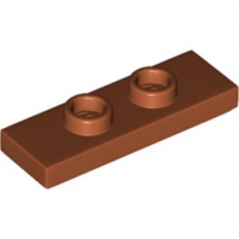 LEGO 6290986 PLATE 1X3 W/ 2 KNOBS - DARK ORANGE