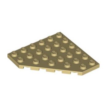 LEGO 610605  CORNER PLATE 6X6X45° - BEIGE