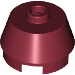 LEGO 6286504 2X2 ROUND,SLOPE BRICK W. KNOB - NEW DARK RED