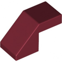 LEGO 6267498 TUILE 1X2 45° - NEW DARK RED