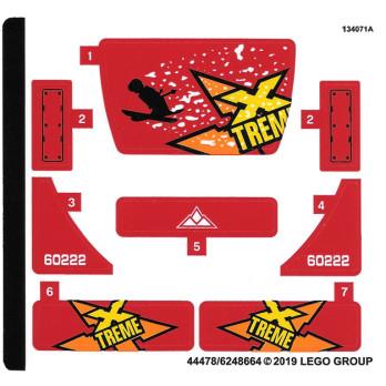 Stickers / Autocollant Lego City 60222