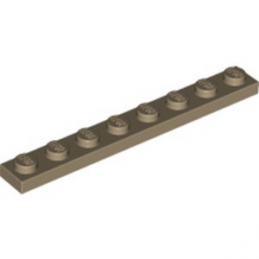 LEGO 6156492 PLATE 1X8 - SAND YELLOW