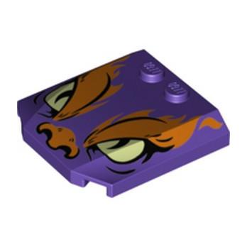 LEGO  6288273 CAPOT 4X4X2/3 IMPRIME - MEDIUM LILAC lego-6288273-capot-4x4x23-imprime-medium-lilac ici :