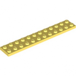 LEGO 6286848 PLATE 2X12 - COOL YELLOW