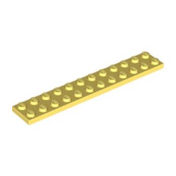LEGO 6286848 PLATE 2X12 - COOL YELLOW lego-6286848-plate-2x12-cool-yellow ici :