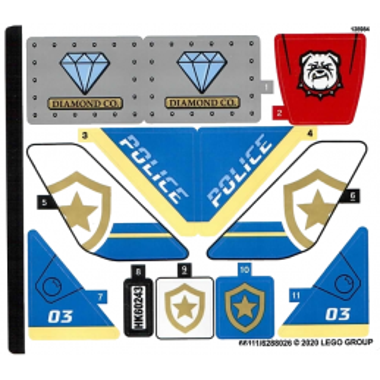 Stickers / Autocollant Lego City 60243 stickers-autocollant-lego-city-60243 ici :