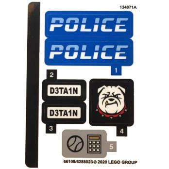Stickers / Autocollant Lego City 60242
