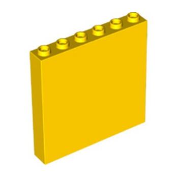 LEGO 4506556 MUR / CLOISON 1X6X5 - JAUNE