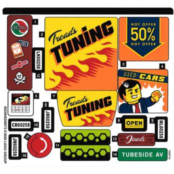 Stickers / Autocollant Lego City 60258