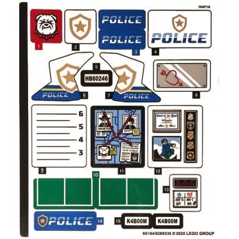 Stickers / Autocollant Lego City 60246