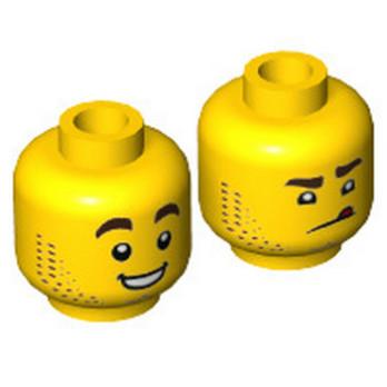 LEGO  6267083 TÊTE HOMME (2 FACES)