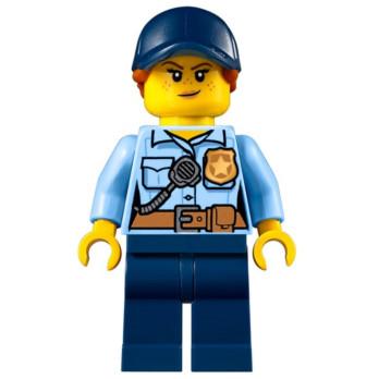 Mini Figurine LEGO® : City - Policière mini-figurine-lego-city-policier- ici :