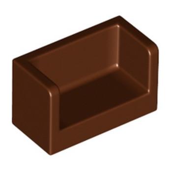 LEGO 6291040 CLOISON 1X2X1- REDDISH BROWN