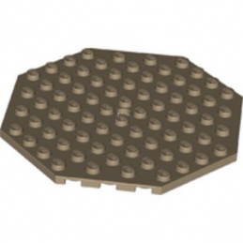 LEGO 6288246 PLATE OCTOGONAL 10X10 - SAND YELLOW