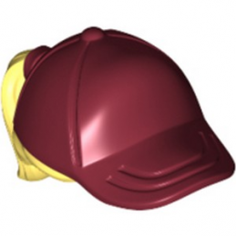 LEGO 6293319 CASQUETTE / CHEVEUX - NEW DARK RED