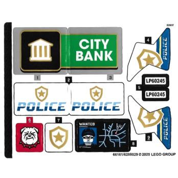 Stickers / Autocollant Lego City 60245