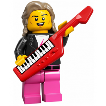 Mini Figurine LEGO® Série 20 - Le musicien des années 80
