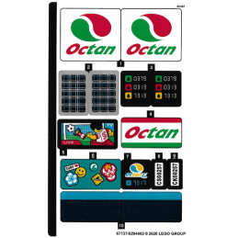 Stickers / Autocollant Lego City 60257 stickers-autocollant-lego-city-60257 ici :