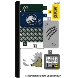 Stickers / Autocollant Lego Jurassic Worl 75935
