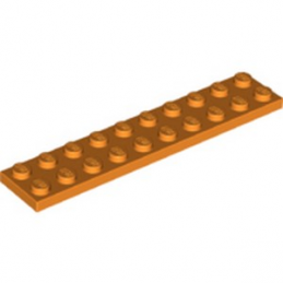 LEGO 6264183 PLATE 2X10 - ORANGE lego-6264183-plate-2x10-orange ici :