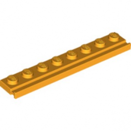 LEGO 6253656 PLATE 1X8 / RAIL - FLAME YELLOWISH ORANGE