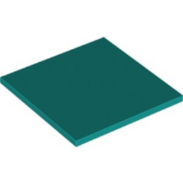 LEGO 6282864 PLAT LISSE 6X6 -  BRIGHT BLUEGREEN