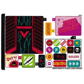 Stickers / Autocollant Lego Ninjago 71708