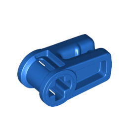 LEGO 6263071 WIRE CLIP, W/ CROSS HOLE  - BLEU
