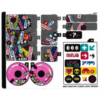 Stickers / Autocollant Lego Ninjago 71710