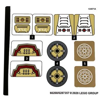 Stickers / Autocollant Lego Ninjago 71702