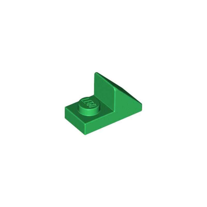LEGO 6226931 TUILE 1X2 45° W 1/3 PLATE - DARK GREEN
