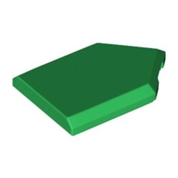 LEGO 6290600 FLAT TILE2X3 W/ANGLE  - DARK GREEN