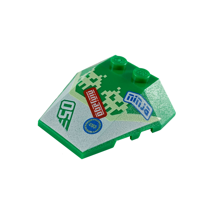 LEGO 6290500 ROOF TILE 4X2/18° - DARK GREEN