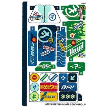 Stickers / Autocollant Lego Ninjago 71709