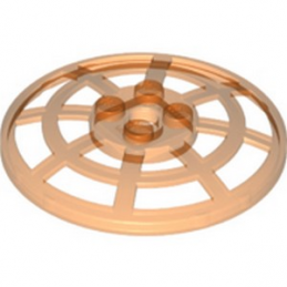 LEGO 6258885 PARABOLIC REFLECTOR Ø48 - ORANGE TRANSPARENT