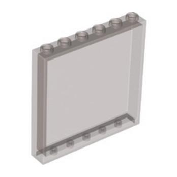 LEGO 6245429 MUR / CLOISON 1X6X5 - MARRON TRANSPARENT