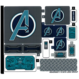 Stickers / Autocollant Lego  Marvel Super Heroes - 76131 stickers-autocollant-lego-marvel-super-heroes-76131 ici :