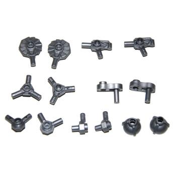 LEGO 6266977 LOT DE 14 ACCESSOIRES / ARMES -  METAL SILVER
