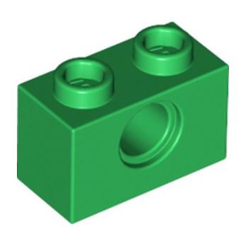 LEGO 6230235 TECHNIC BRIQUE 1X2, Ø4.9 - DARK GREEN lego-6230235-technic-brique-1x2-o49-dark-green ici :