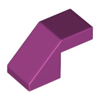 LEGO 6295121 TUILE 1X2 45° - MAGENTA