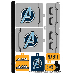 Stickers / Autocollant Lego Marvel  Super Heroes 76143 stickers-autocollant-lego-marvel-super-heroes-76143 ici :