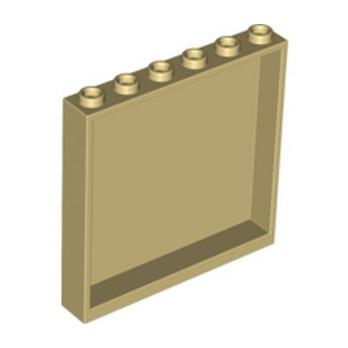 LEGO 4512688 MUR / CLOISON 1X6X5 - BEIGE