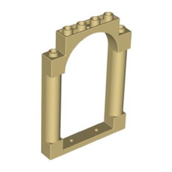 LEGO 6273864 CLOISON / MUR ARCHE 1X6X7 - BEIGE lego-6273864-porte-cloison-arche-1x6x7-beige ici :