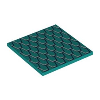 LEGO 6282617 PLAT LISSE 6X6 IMPRIME -  BRIGHT BLUEGREEN