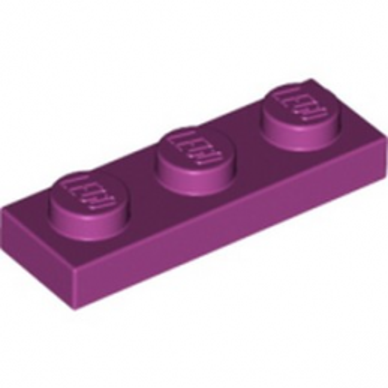 LEGO 6022048 PLATE 1X3 - MAGENTA