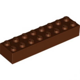 LEGO 6096701 BRIQUE 2X8 - REDDISH BROWN