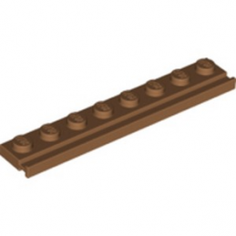 LEGO 6228396 PLATE 1X8 / RAIL - MEDIUM NOUGAT